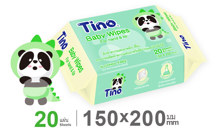 Tino Wet Wipes For hand & lip